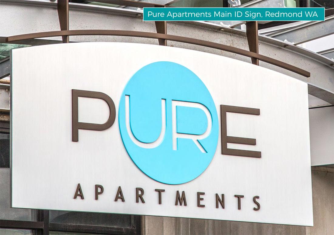 kaleidoscope design inc graphic design large exterior signs pure apartments