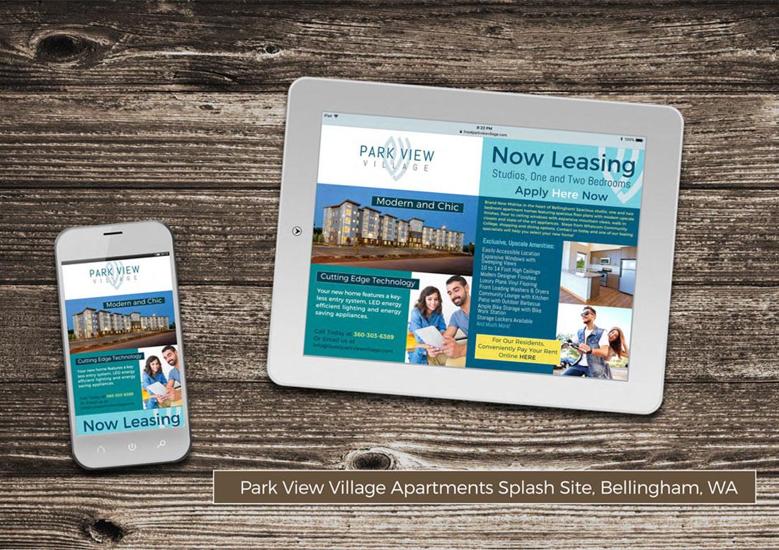 kaleidoscope design inc website design park view village splash website