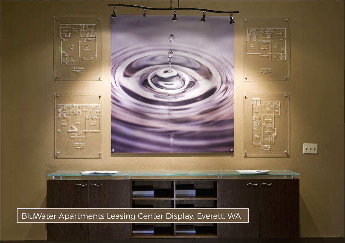 kaleidoscope design inc graphic design marketing displays bluwater apartments