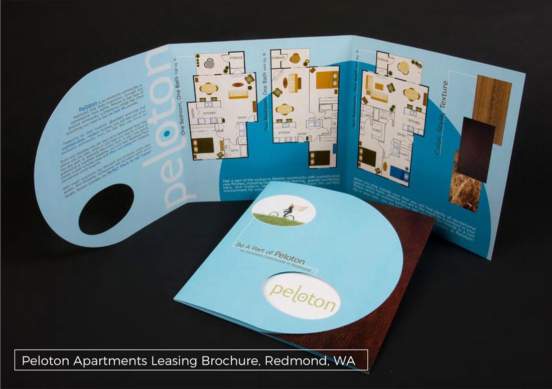 kaleidoscope design inc graphic design marketing brochure peloton apartments